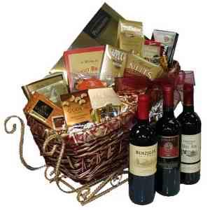 Sleigh Bells Wine & Gourmet Gift Basket - 2011082587