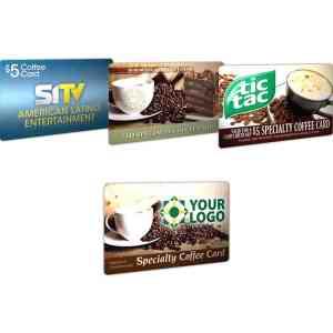 Custom Branded $5 Coffee card - USACoffee5