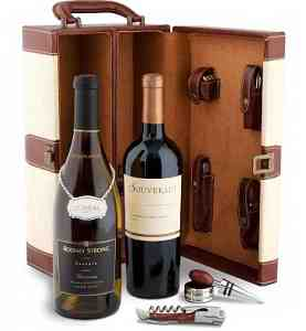 Deluxe Accessory Wine Tote - Sonoma Valley Wine Duo - 11959