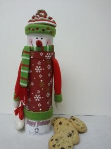 Snowman Cookie Tube