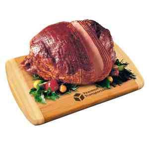 Spiral-Sliced Whole Ham with Bamboo Cutting Board _ BB745-Ham