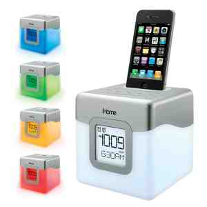 IHome LED Color Changing Alarm Clock - IP18