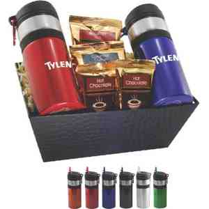 Gift tray with sport bottles, coffee and hot chocolate - DRB1300-E