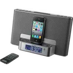 Sony iPod.iPhone Clock Radio. Silver - ICFCS151SL
