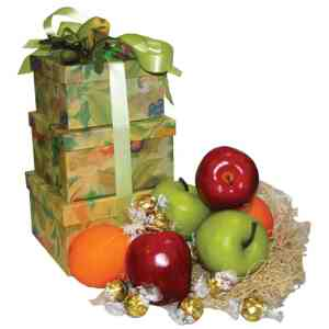 Fruits & Chocolate Gift Basket Tower - 2011013196