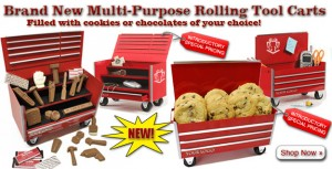 Rolling Tool Cart Edible Gifts In 2 Sizes