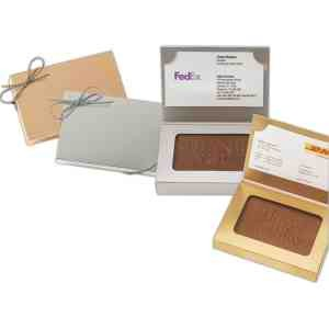 Chocolate Rectangle in Business Card Box