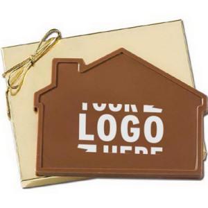 Custom House Shaped Chocolate in Gold Gift Box