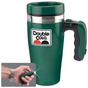 Flashlight Mug - Green - LED - 16 oz