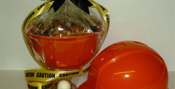 Caution Corporate Hard Hat Gift Baskets Will Make You Drool