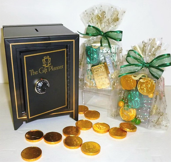 Combination Lock Coin Bank with Chocolate Coins