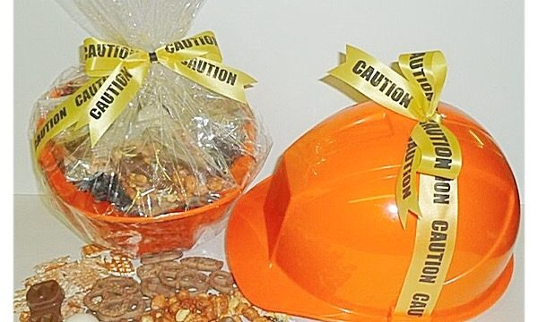 Caution! Chocolate Danger Hard Hat Gift At The Gift Planner