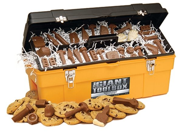 Giant Yellow Chocolate Tools And Gourmet Cookie Toolbox