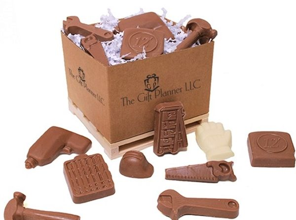 chocolate tools gift box on pallet