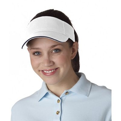 Classic Cut Brushed Cotton Twill Sandwich Visor