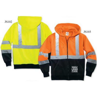 ML Kishigo Hi-Vis Hooded Full-Zip Sweatshirt
