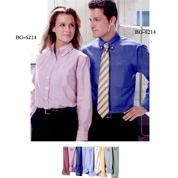 ladies long sleeve oxford dress shirt