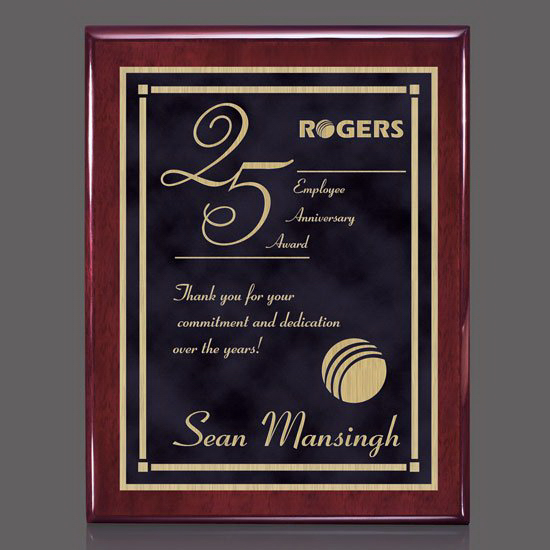 Oakleigh/Contempo Plaque - Rosewood/Black
