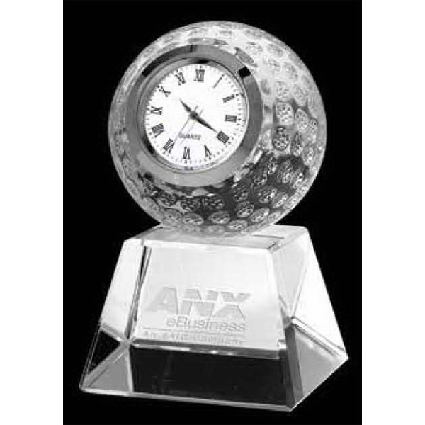 Tee-Off Crystal Clock