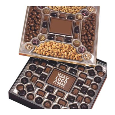 Double Layered Cocolate & Nuts Confections Gift Box
