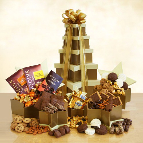 Star Struck Chocolate and Snack Tower