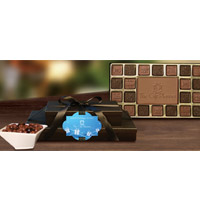 2 piece Chocolate Nut Combo Holiday Gift Tower