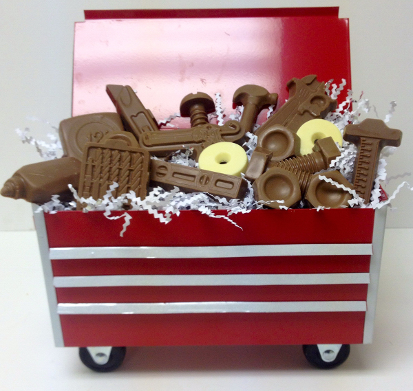 All Chocolate Tool Box With Themed Chocolate