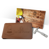 2 lb Custom Logo Chocolate Bar in Milk or Dark